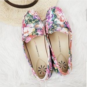 Isaac Mizrahi Shoes - Isaac Mizrahi Live! Floral Leather Loafer Flats 8